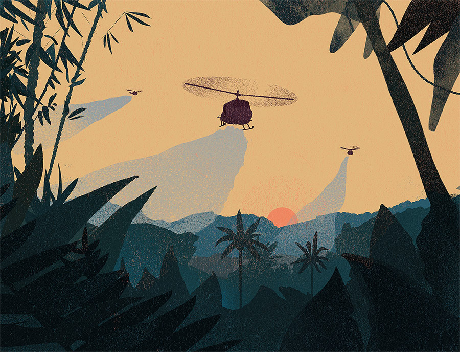 ecocide marcin wolski usbek rica illustration jungle