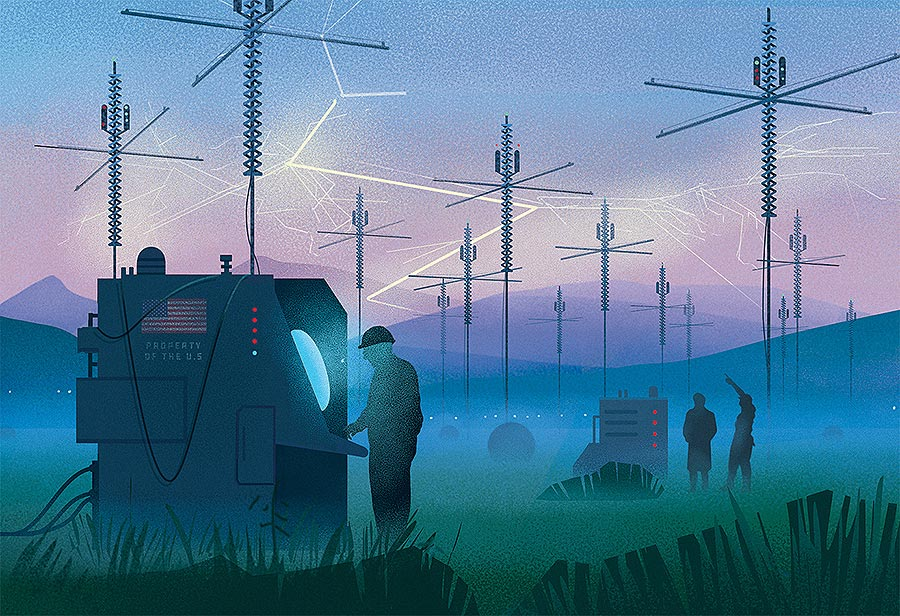 Usbek & Rica HAARP illustration marcin wolski