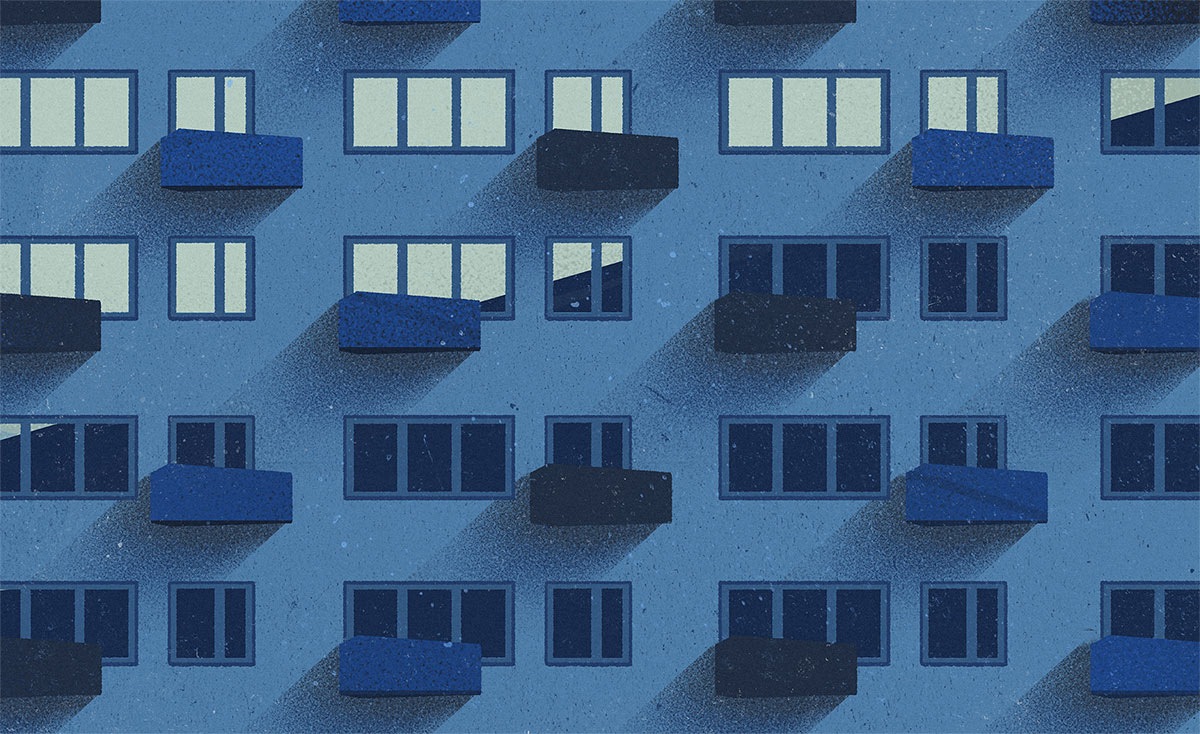 Eastern block flats habitat 316 wolski illustration