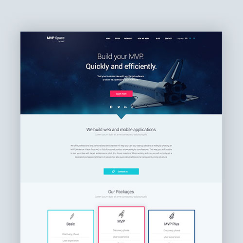 mvp space web design thumbnail